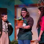 The man-eating plant talks to actors in Little Shop of Horrors