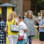 Alumnae interact on front campus at Reunion 2018