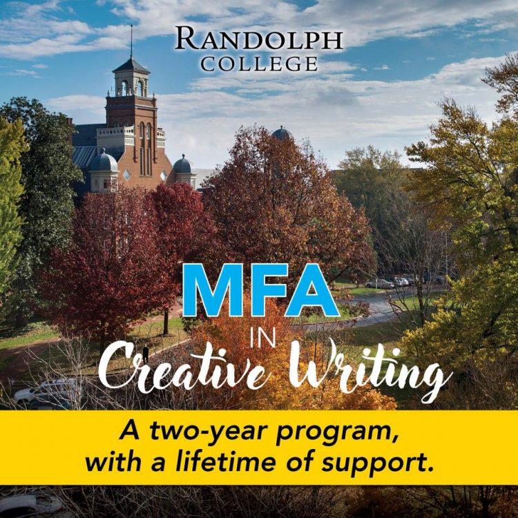 Graphic for Randolph's MFA in creative writing program