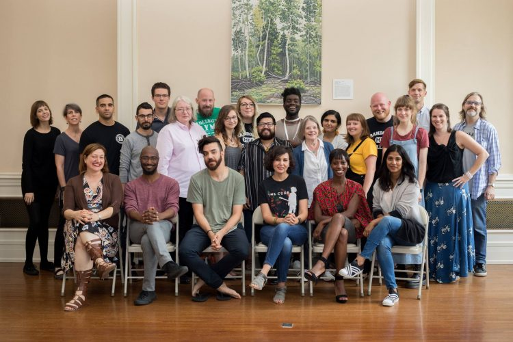 Core faculty and students in Randolph's first M.F.A. in Creative Writing residency program