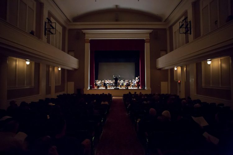A concert by the music department in Smith Hall Theatre