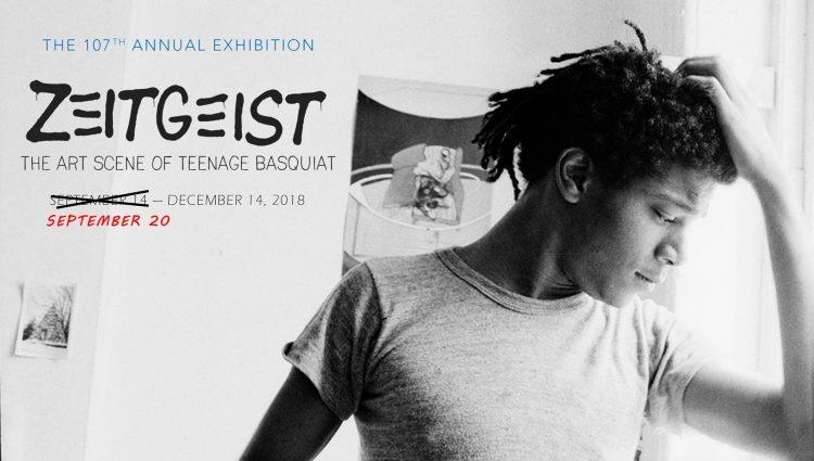 Poster for the exhibition, Zeitgeist: The Art Scene of Teenage Basquiat (photo credit: Alexis Adler)