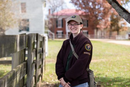 Andrea Wilson '20 at Appomattox National Historical Park