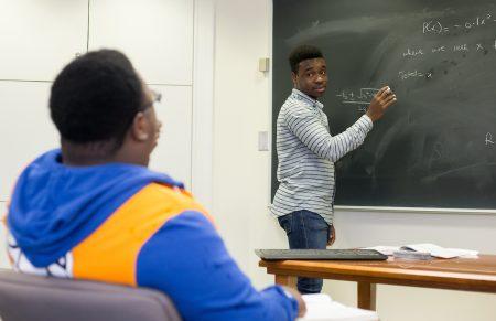 George Darko Boateng '20 tutors math students