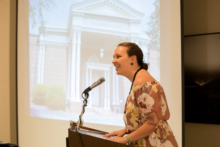 Katie Stewart Page '08 speaks at Randolph's 2018 Reunion