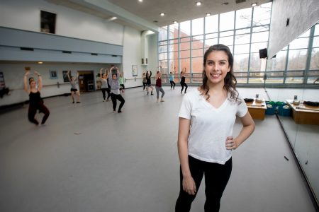 Lauren Taylor '21 in Randolph's dance studio