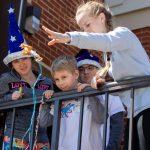 Local children enjoy a physics activity at Randolph College SciFest