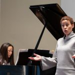 Katherine Jolly, winner of the Metropolitan Opera National Council Grand Finals, and music professor Emily Yap Chua performed a song cycle by African-American composer Evan Williams at Randolph