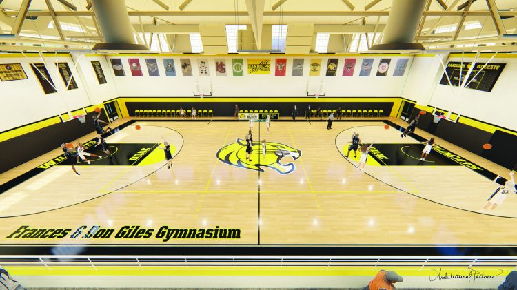 An artistic rendering of the renovation plans for Randolph's gymnasium