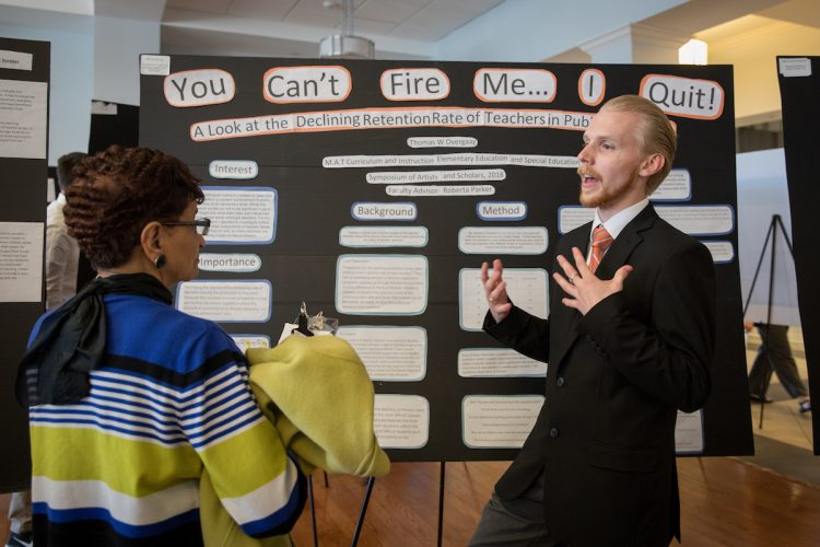 Poster presentations at the 2018 Symposium of Artists and Scholars