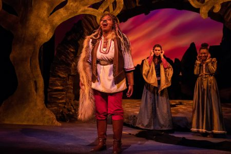 Liz Beamon played Aslan in the production of The Lion, the Witch, and the Wardrobe