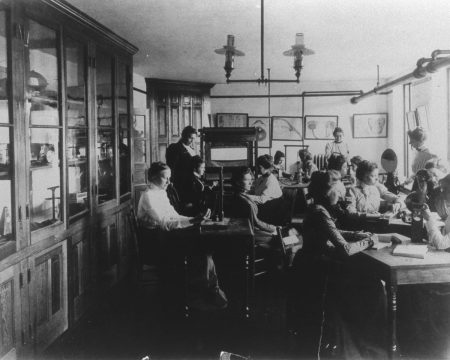 The psychology laboratory in the 1890s