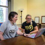 Sport and exercise studies professor Meghan Halbrook and Taylor Craft '20