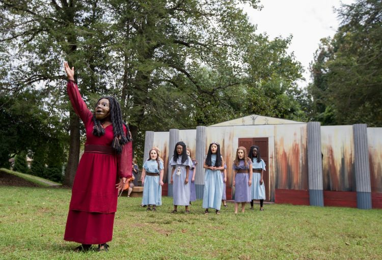 A scene from the 2018 Greek Play, Medea