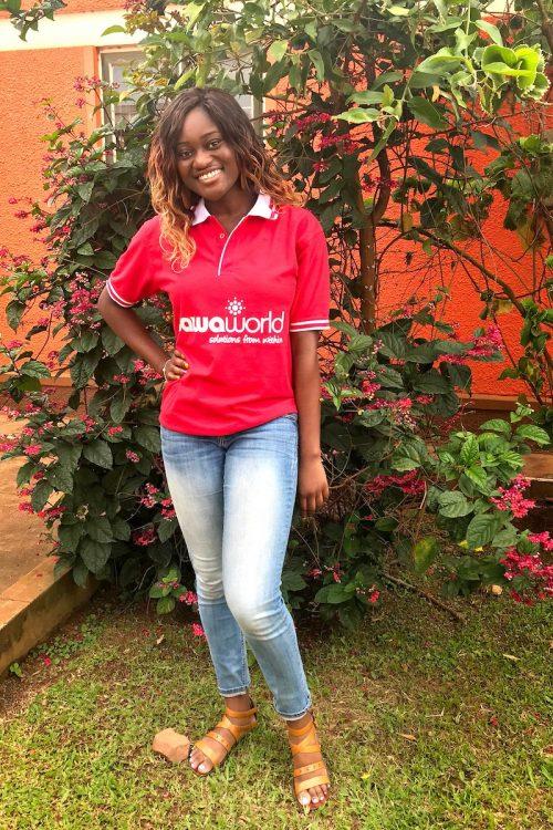 Ranita Opoku-Sarfo wearing her Sawa World T-shirt