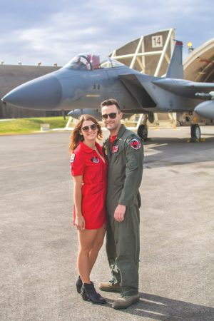 Leah Helsel Hamilton and her husband, Captain Matthew Hamilton, a fighter pilot in the U.S. Air Force