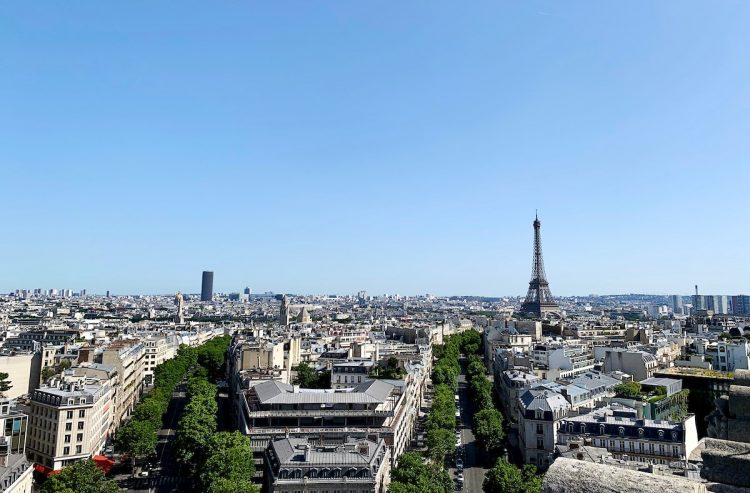 View of Paris from the top of L'Arc de Triomphe (photos by Anthony Fonnesu)
