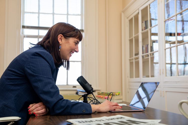 This fall, American Culture professor Justina Lincata tasked her students with creating podcast episodes about a book they'd read about the African American experience.