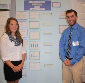 students present their research findings at a conference