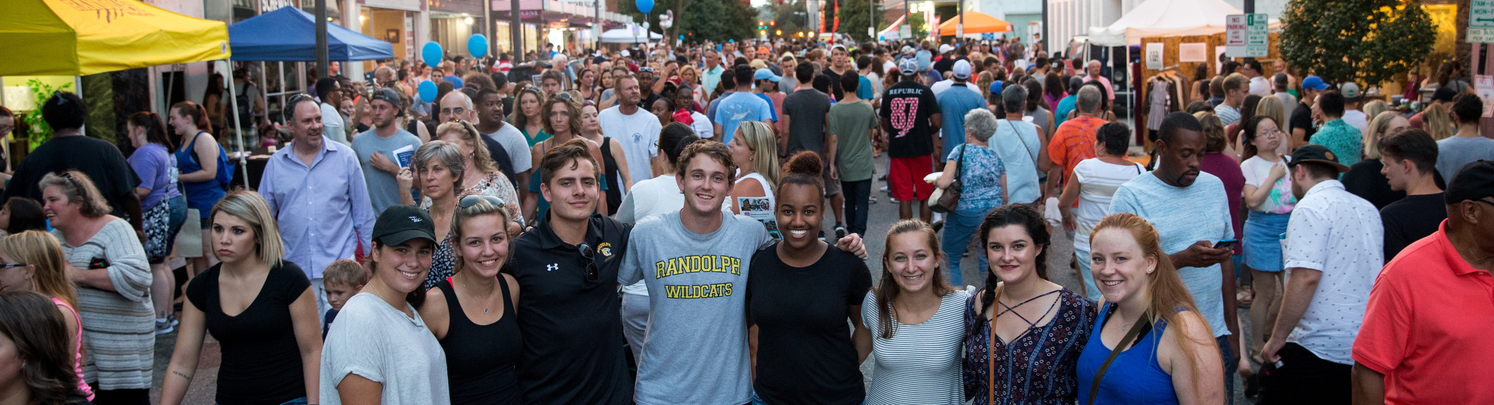 Students in downtown Lynchburg