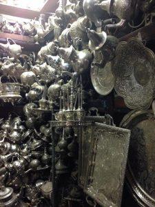 Silver market in Fez, Morocco.