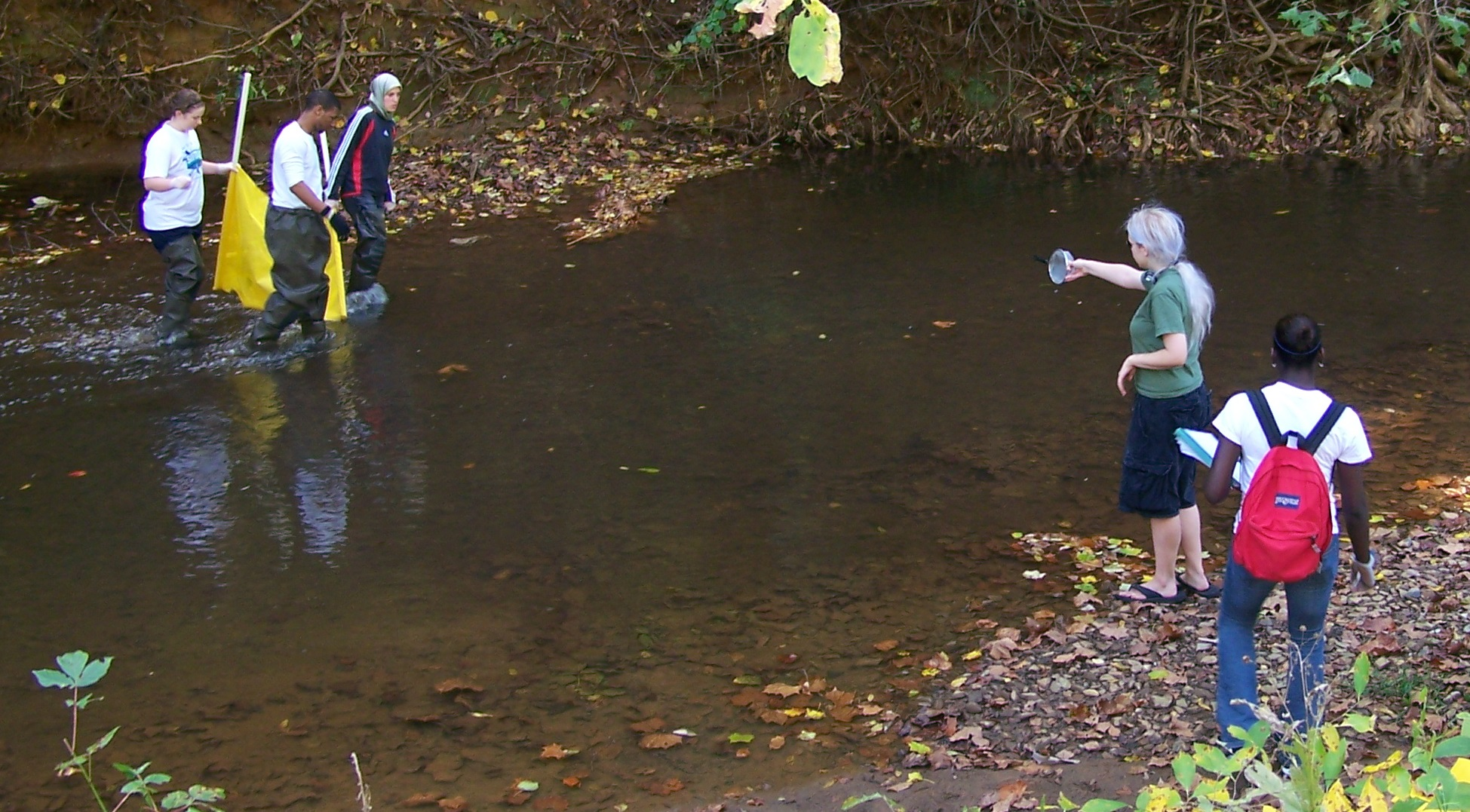 Students monitoring of Blackwater Creek