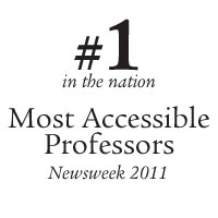 Honored by Newsweek - Daily Beast for having the Most Accessible Professors