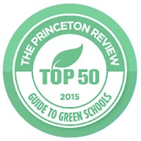 The Princeton Review 332 Green Colleges 2014 badge