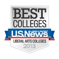 Named a Best Liberal Arts College by US News and World Report 2013