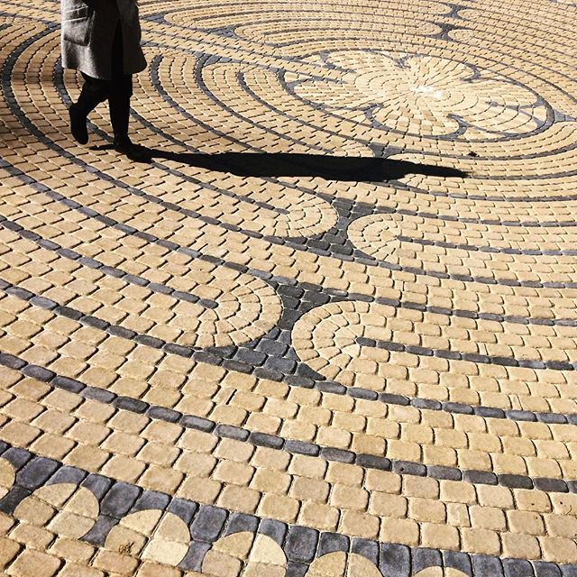 This morning, #RandolphCollege officially dedicated a new #labyrinth on back campus, gifted to the College by Katharine Stark Caldwell '74! Read more about the gift at: http://bit.ly/1od2tYp #BeAnOriginal