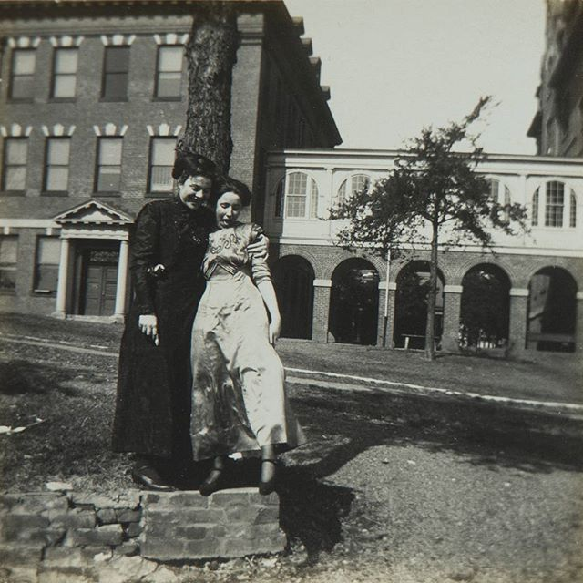 randolphcollegeFriends goofing off between classes: a #RandolphCollege #tradition since the early 1900s. #ThrowbackThursday #tbt