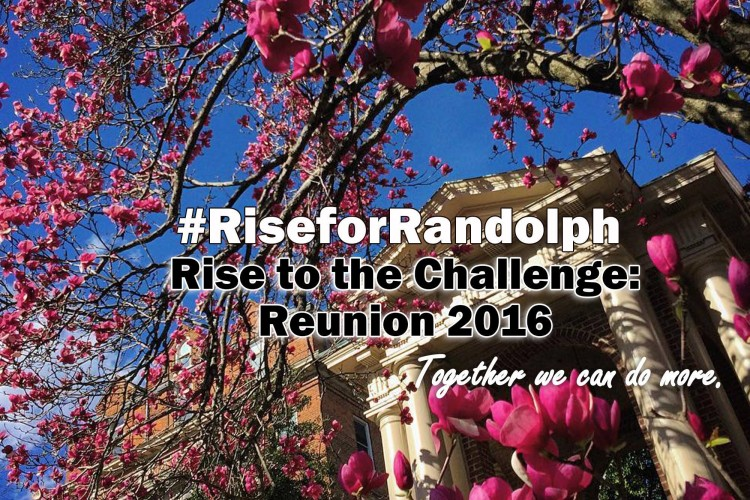 #RiseForRandolph - Rise to the Challenge - Reunion 2016 - Together we can do more.