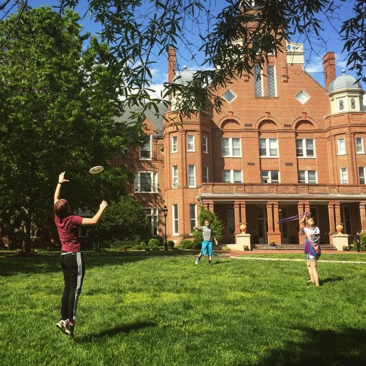 Students take a study break to enjoy the weather at #RandolphCollege. #BeAnOriginal