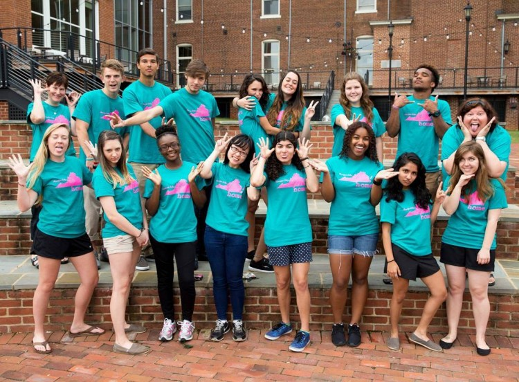 Group photo of students in #RandolphCollege's Susan F. Davenport Leadership Program.