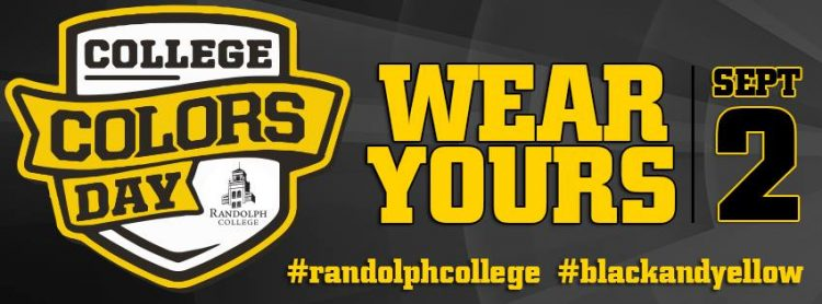 Wear black and yellow on College Colors Day - September 2.
