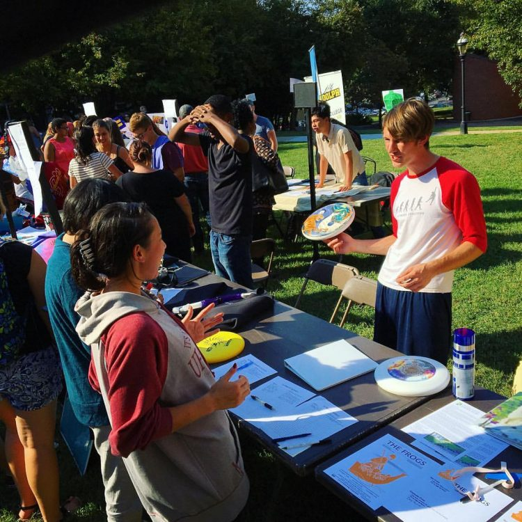 Students get information on the many clubs and organizations they can join at the annual Involvement Fair.