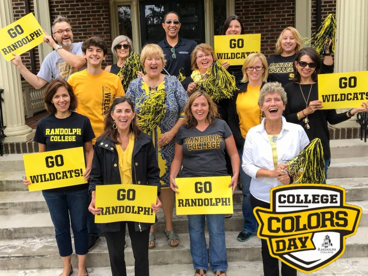 Randolph community wears black and yellow for College Colors Day.