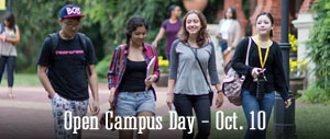 Open Campus Day for Prospective Students - Oct. 10