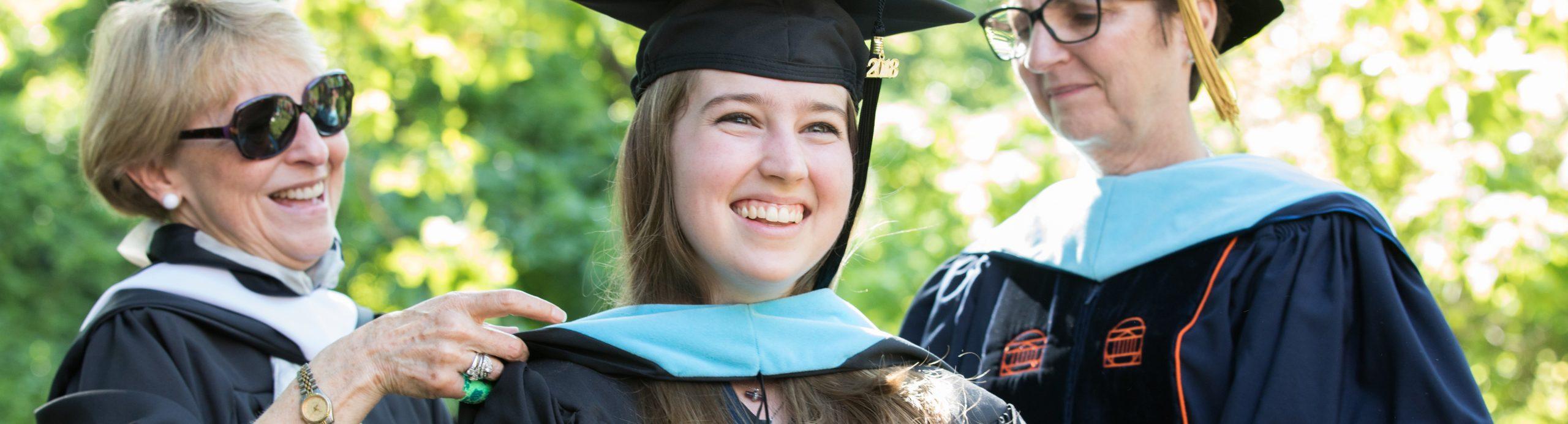 Photo of student graduating
