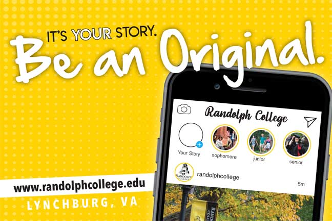 Click to download a copy of the Randolph College Viewbook.