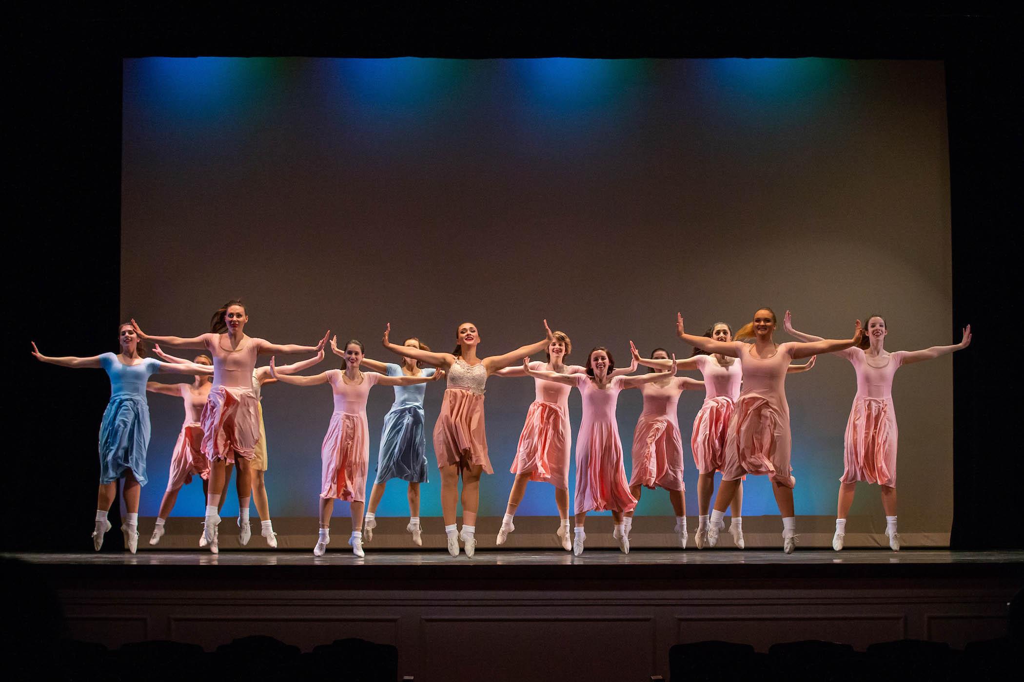 Dance ensemble at annual spring concert