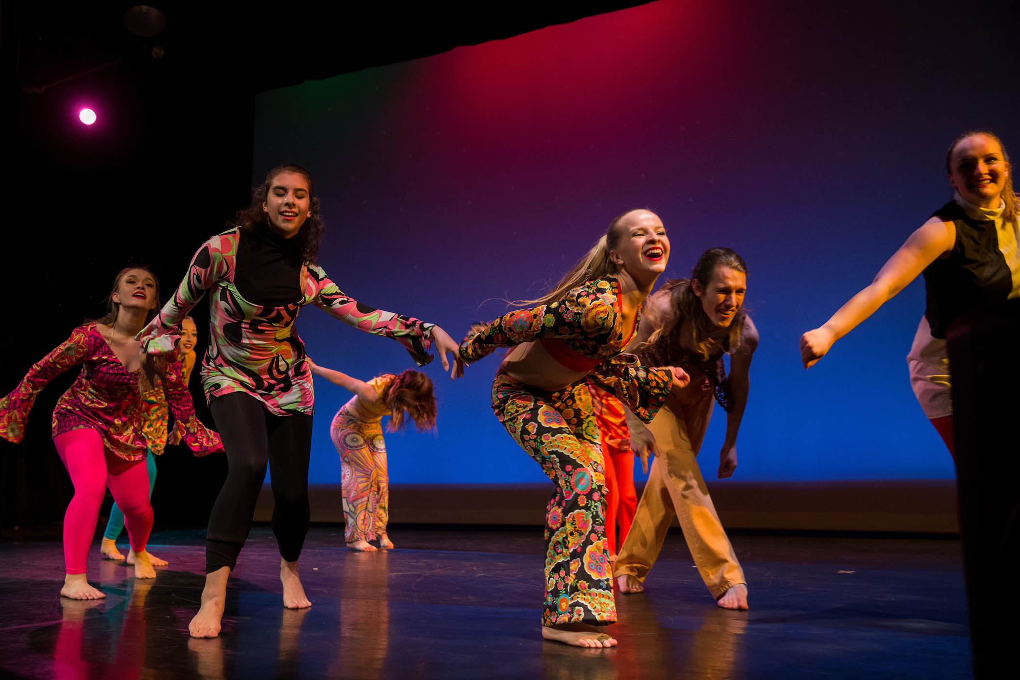 Dancers on stage at annual spring concert