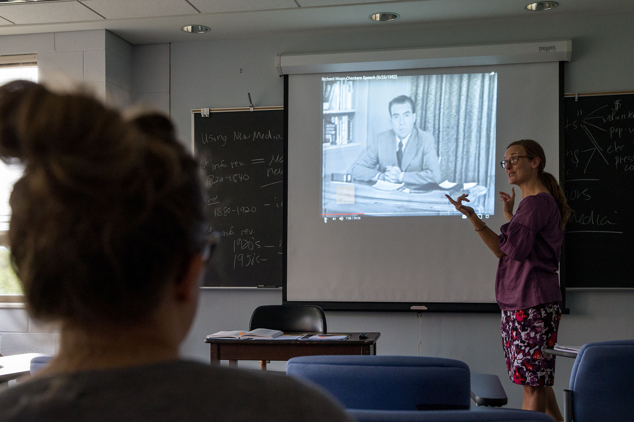 Media and culture professor Jennifer Gauthier discusses the effect of media on elections.