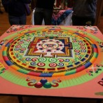 Sand mandala created at Randolph College by the Tashi Kyil monks.