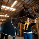 Photo of Amy Jacobs and her horse