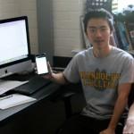Photo of students at computer