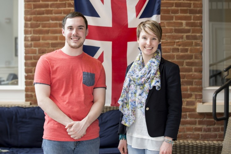 Travis Byram '18 and Katya Schwab '17 will be interns at the National Gallery, London this summer.