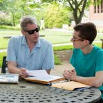 Sociology professor Brad Bullock and Harrison Pippin '18 talk about their project.