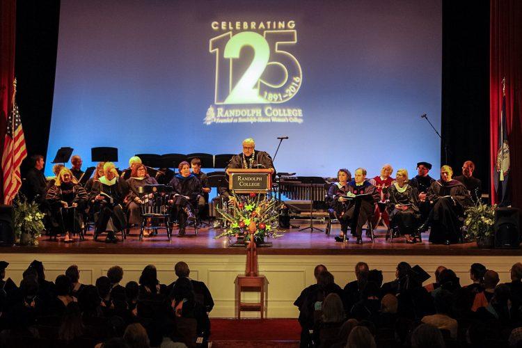 President Bradley W. Bateman speaks during Randolph's 125th Anniversary Convocation.
