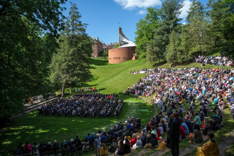 Commencement ceremony at Randolph College